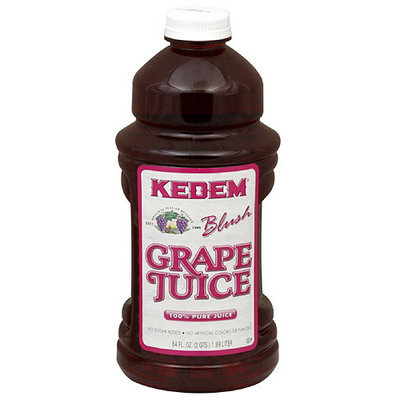 Kedem Pure Blush Grape Juice, 64 oz (Pack of 8)
