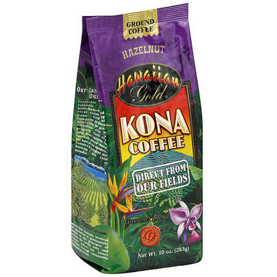 Hawaiian Gold Kona Hazelnut Ground Coffee, 10 oz (Pack of 6)