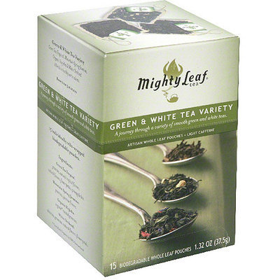 Mighty Leaf Green & White Tea Variety Herbal Tea Bags, 1.32 oz (Pack of 6)