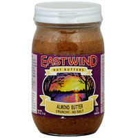 East Wing Nut Butters East Wind Nut Butters Crunchy No Salt Almond Butter, 16 oz (Pack of 12)