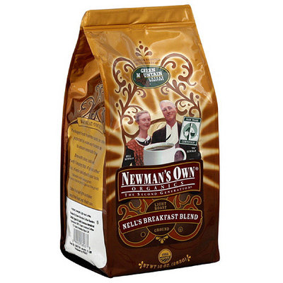 Newman's Own Organics The Second Generation Nell's Breakfast Blend Light Roast Ground Coffee, 10 oz, 6ct (Pack of 6)