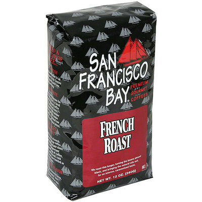 San Francisco Bay Coffee French Roast Whole Bean Coffee, 12 oz (Pack of 6)