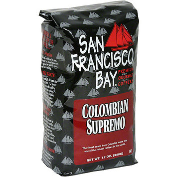 San Francisco Bay Coffee Colombian Supremo Whole Bean Coffee, 12 oz (Pack of 6)