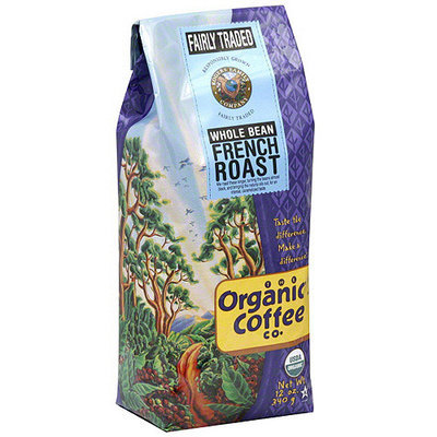 The Organic Coffee Co. French Roast Whole Bean Coffee, 12 oz (Pack of 6)