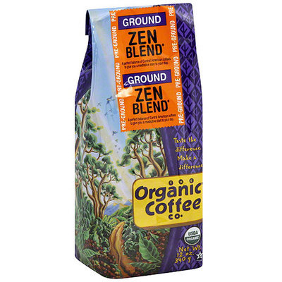 The Organic Coffee Co. Zen Blend Ground Coffee, 12 oz (Pack of 6)