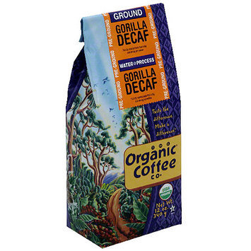 The Organic Coffee Co. Decaf Gorilla Ground Coffee, 12 oz (Pack of 6)