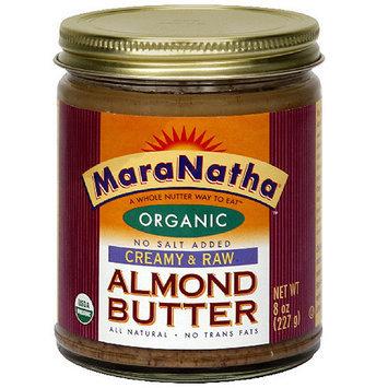 Maranatha Raw Creamy Almond Butter, 8 oz (Pack of 6)