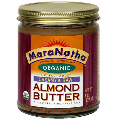 Maranatha Raw Creamy Almond Butter, 8 oz (Pack of 6)