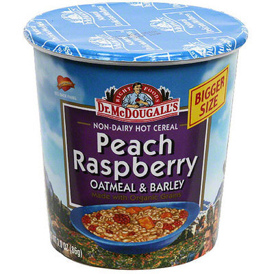 Dr. Mcdougall's McDougall's Peach Raspberry with Organic Grains Big Cup, 3 oz. (Pack of 6)