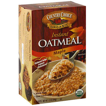 Country Choice Organic Maple Instant Oatmeal, 8ct (Pack of 6)