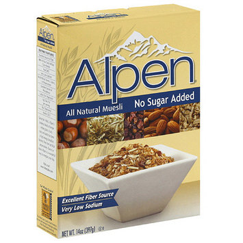 Alpen All Natural No Sugar Added Muesli, 14 oz (Pack of 12)