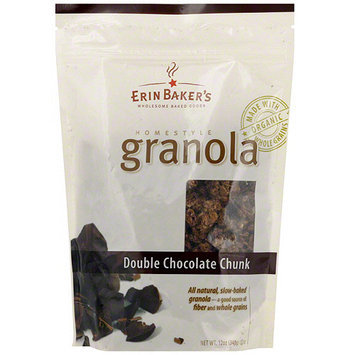 Erin Baker's Homestyle Double Chocolate Chunk Granola, 12 oz (Pack of 6)