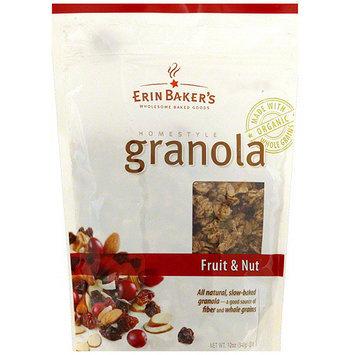 Erin Baker's Homestyle Fruit & Nut Granola, 12 oz (Pack of 6)
