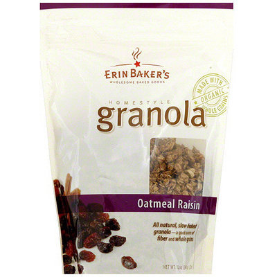 Erin Baker's Homestyle Oatmeal Raisin Granola, 12 oz (Pack of 6)