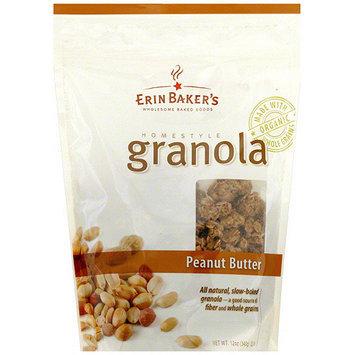 Erin Baker's Homestyle Peanut Butter Granola, 12 oz (Pack of 6)