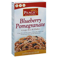 Peace Cereal Blueberry Pomegranate Crispy Rice & Flakes Cereal, 12 oz (Pack of 6)