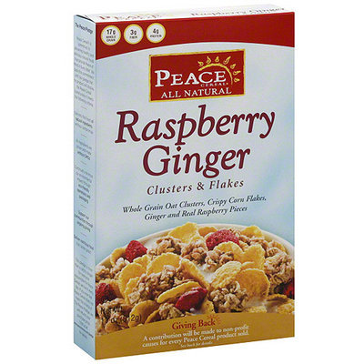 Peace Cereal Raspberry Ginger Clusters & Flakes Cereal, 11 oz (Pack of 6)