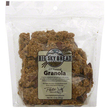 Big Sky Bread Company Original Honey Almond Granola, 12 oz (Pack of 6)