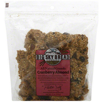 Big Sky Bread Company Cranberry Almond Granola, 12 oz (Pack of 6)