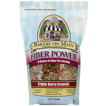 Bakery On Main Gourmet Naturals Fiber Power Triple Berry Granola, 12 oz (Pack of 6)
