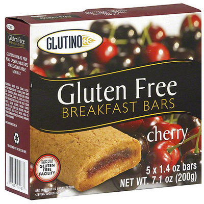 Glutino Cherry Breakfast Bars, 7.1 oz (Pack of 12)