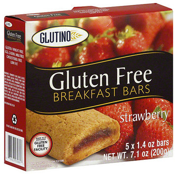 Glutino Strawberry Breakfast Bar, 5ct (Pack of 12)