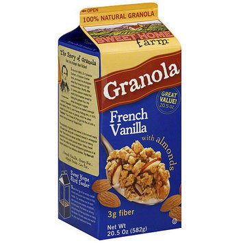 Sweet Home Farm French Vanilla Granola with Almonds, 20.5 oz (Pack of 8)