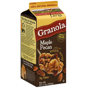 Sweet Home Farm Maple Pecan Granola with Real Maple Syrup, 20.5 oz (Pack of 8)