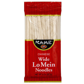 Kame Ka-Me Chinese Wide Lo Mein Noodles, 8 oz (Pack of 12)
