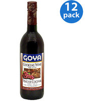 Goya Red Cooking Wine, 25.4 oz (Pack of 12)
