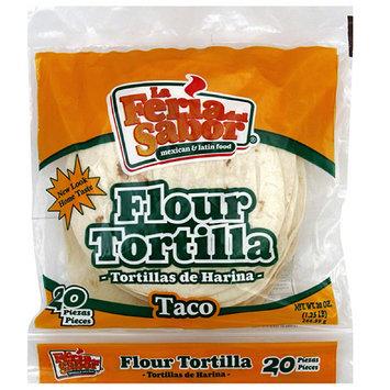 La Feria Del Sabor Taco Flour Tortillas, 20 oz (Pack of 12)