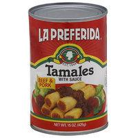 La Preferida Tamales with Sauce, 15 oz, (Pack of 12)