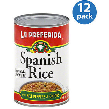 La Preferida Spanish Rice with Bell Peppers & Onions, 15 oz (Pack of 12)