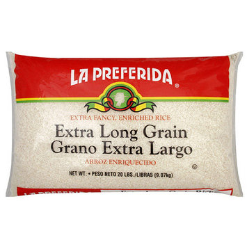 La Preferida Extra Long Grain Enriched Rice, 20 lb (Pack of 2)