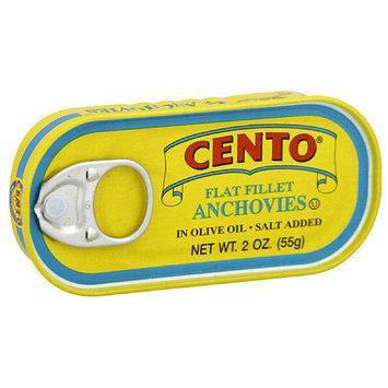 Cento Flat Fillet Anchovies, 2 oz (Pack of 25)
