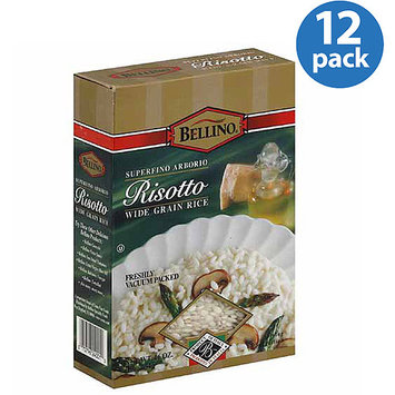 Bellino Wide Grain Risotto Rice, 16 oz, (Pack of 12)