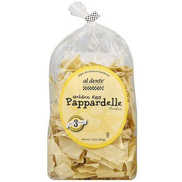 Al Dente Golden Egg Pappardelle Noodles, 12 oz (Pack of 6)