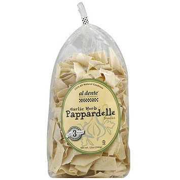 Al Dente Pasta Garlic Herb Pappardelle Noodles, 12 oz (Pack of 6)
