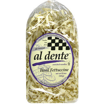 Al Dente Basil Fettuccine Pasta, 12 oz (Pack of 6)
