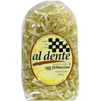 Al Dente Egg Fettuccine Pasta, 12 oz (Pack of 6)