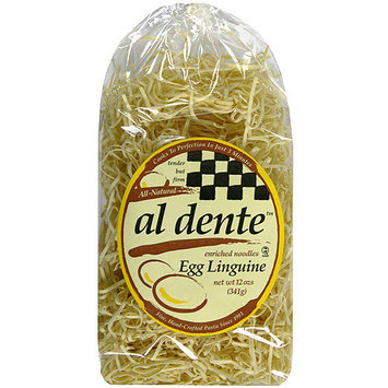 Al Dente Egg Linguine Pasta, 12 oz (Pack of 6)