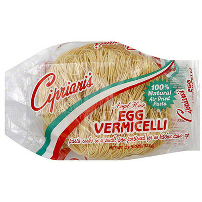 Cipriani's Angel Hair Egg Vermicelli Pasta, 11.5 oz (Pack of 12)