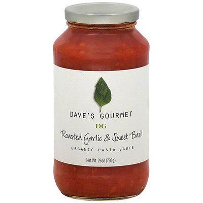 Daves Gourmet Dave's Gourmet Roasted Garlic & Sweet Basil Pasta Sauce, 25.5 oz (Pack of 6)