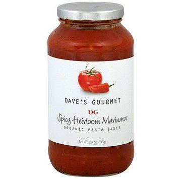 Daves Gourmet Dave's Gourmet Organic Spicy Heirloom Marinara Pasta Sauce, 26 oz (Pack of 6)