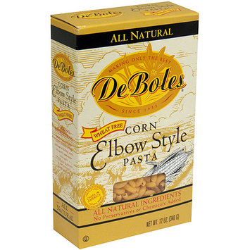 Deboles Corn Elbow Style Pasta, 12 oz (Pack of 12)