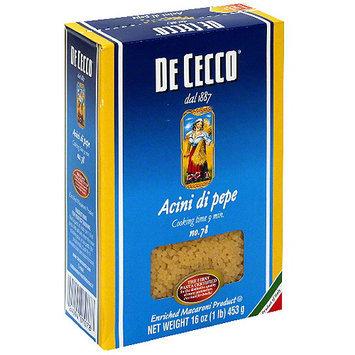 De Cecco Acini Di Pepe Pasta, 16 oz (Pack of 20)