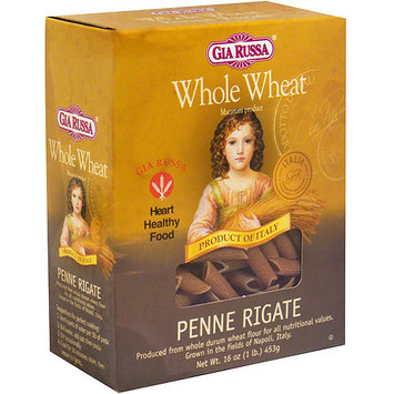 Gia Russa Whole Wheat Penne Rigate, 16 oz (Pack of 12)