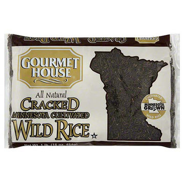 Gourmet House Cracked Minnesota Cultivated Wild Rice, 1 lb (Pack of 12)