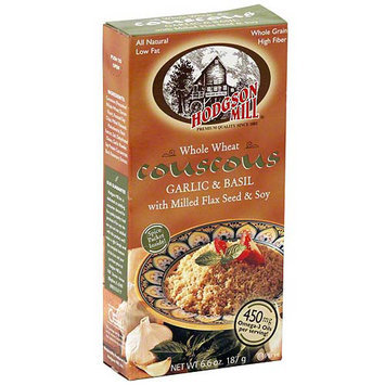 Hodgson Mill Whole Wheat Garlic & Basil Couscous With Milled Flax Seed & Soy, 6.6 oz (Pack of 8)