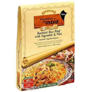 Kitchens Of India Basmati Rice Pilaf With Vegetable & Nuts, 8.8 oz (Pack of 6)